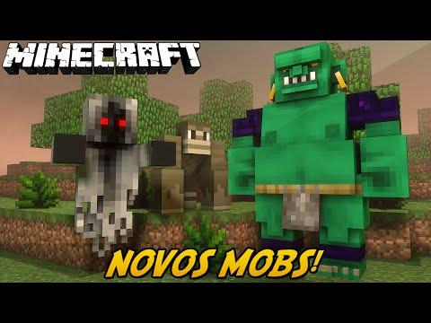Minecraft: NOVOS MOBS DO MINECRAFT!? (Vampiros, Magos, Macacos // Command Block)