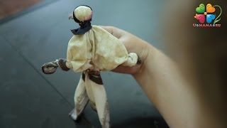 Как сделать куклу из носового платка.Поделки с детьми
