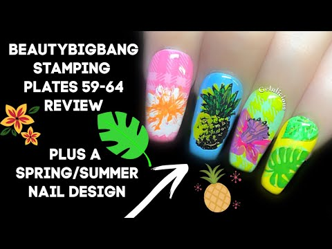 BeautyBigBang Stamping Plates 59-64 | Spring/Summer Nails