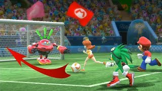 Mario & Sonic Rio 2016 Olympic Games Football Team Jet Defeated Team Vector/Amy | JinnaGaming