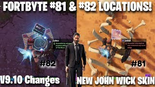 Fortnite FortByte Challenges 81 & 82 Guide | New John Wick Skin & V9.10 Changes! (Fortnite)