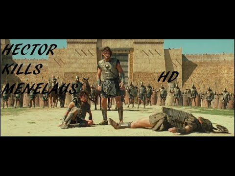 Troy -Hector kills Menelaus HD