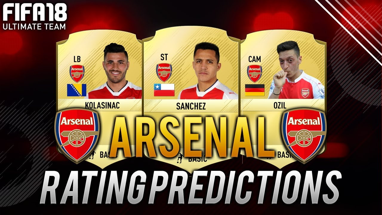fifa 18 arsenal player ratings predictions ft alexis sanchez ozil bellerin more fut 18