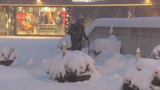 Trentino, caduto oltre mezzo metro di neve a Madonna di Campiglio: le strade sono imbiancate