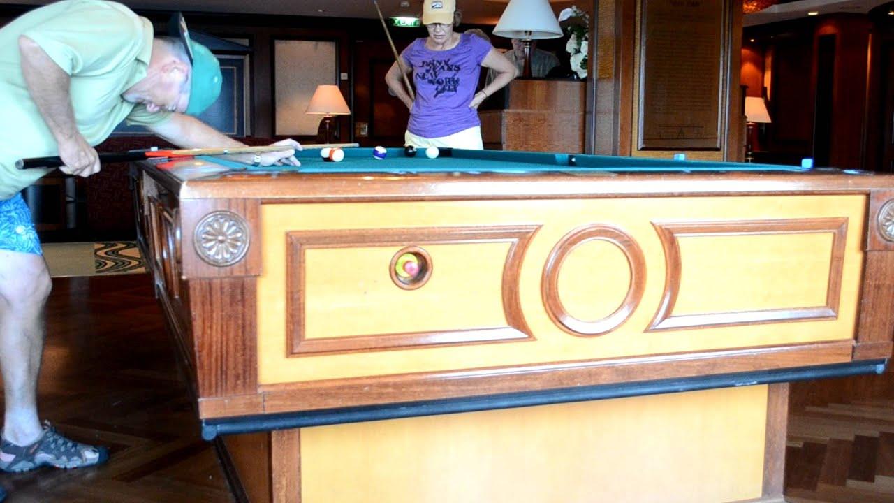 Self Leveling Pool Table On Cruise Ship VID YouTube - Cruise ship pool table