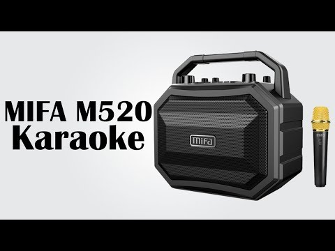 MIFA M520 Karaoke - True wireless stereo sound / Supports wired and wireless microphones