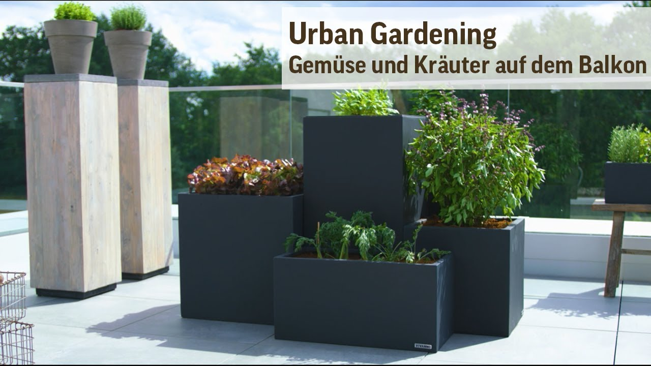 urban gardening auf dem balkon gem sebeet und kr utergarten anlegen youtube. Black Bedroom Furniture Sets. Home Design Ideas