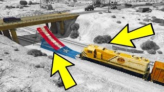 One of Avxry's most viewed videos: CAN A TRAIN JUMP A BRIDGE IN GTA 5?