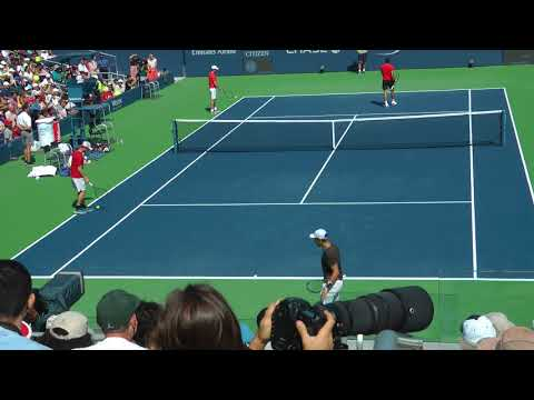Roger Federer Full Practice Set With Borna Coric At The US Open 2017. (Full HD/60fps)