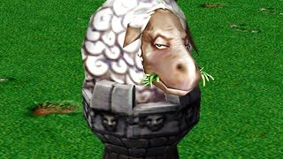Овца стала башней в warcraft 3!
