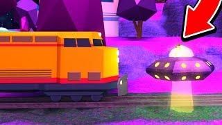 UFO VS TRAIN IN ROBLOX JAILBREAK! (BAD IDEA)