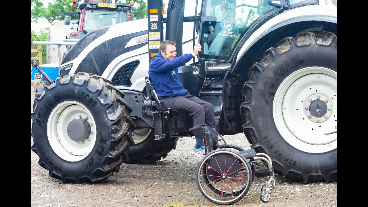 Tractor Wheelchair Lift : Man adapts tractor to be wheelchair friendly youtube