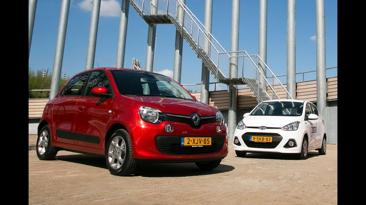 dubbeltest - renault twingo vs hyundai i10 - youtube