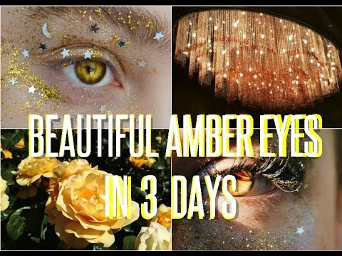 Beautiful Rare Magnetic  Amber Eyes - Subliminal Affirmations