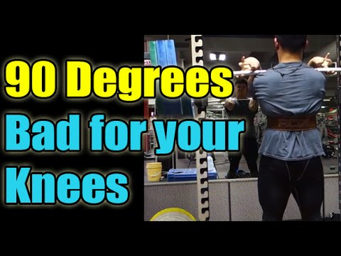 Squat Below 90 degrees bad for your knees and Paleo Diet