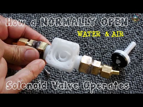 How N.O.(Normally Open) Solenoid Valves Operate