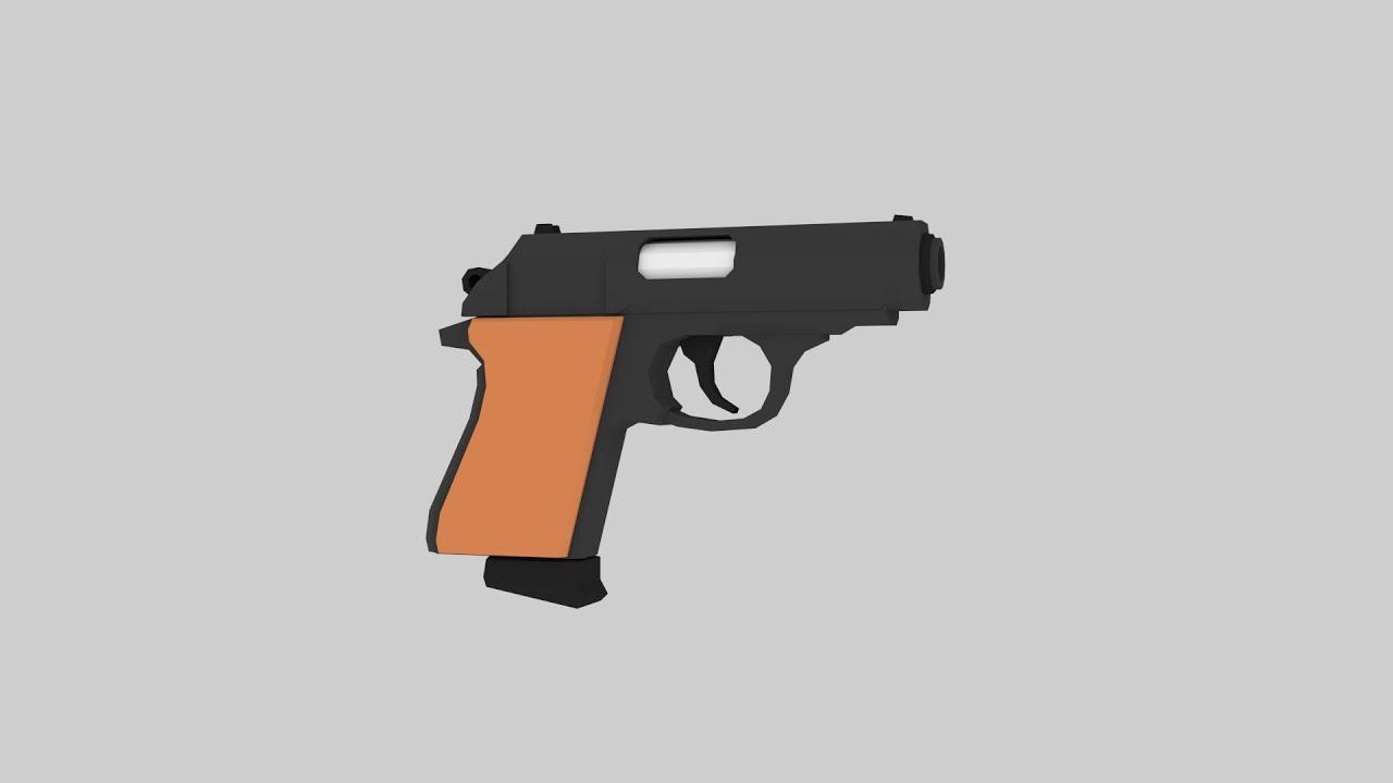 Low Poly Gun - Blender Speed Modeling - YouTube