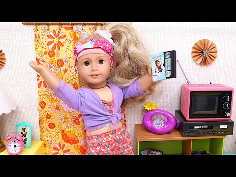 Baby Doll morning routine with aerobics exercise! Play Toys sports story