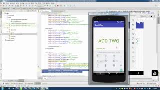 Android Studio  : How to Start Programming - Lesson 3 -Adding Two Numbers