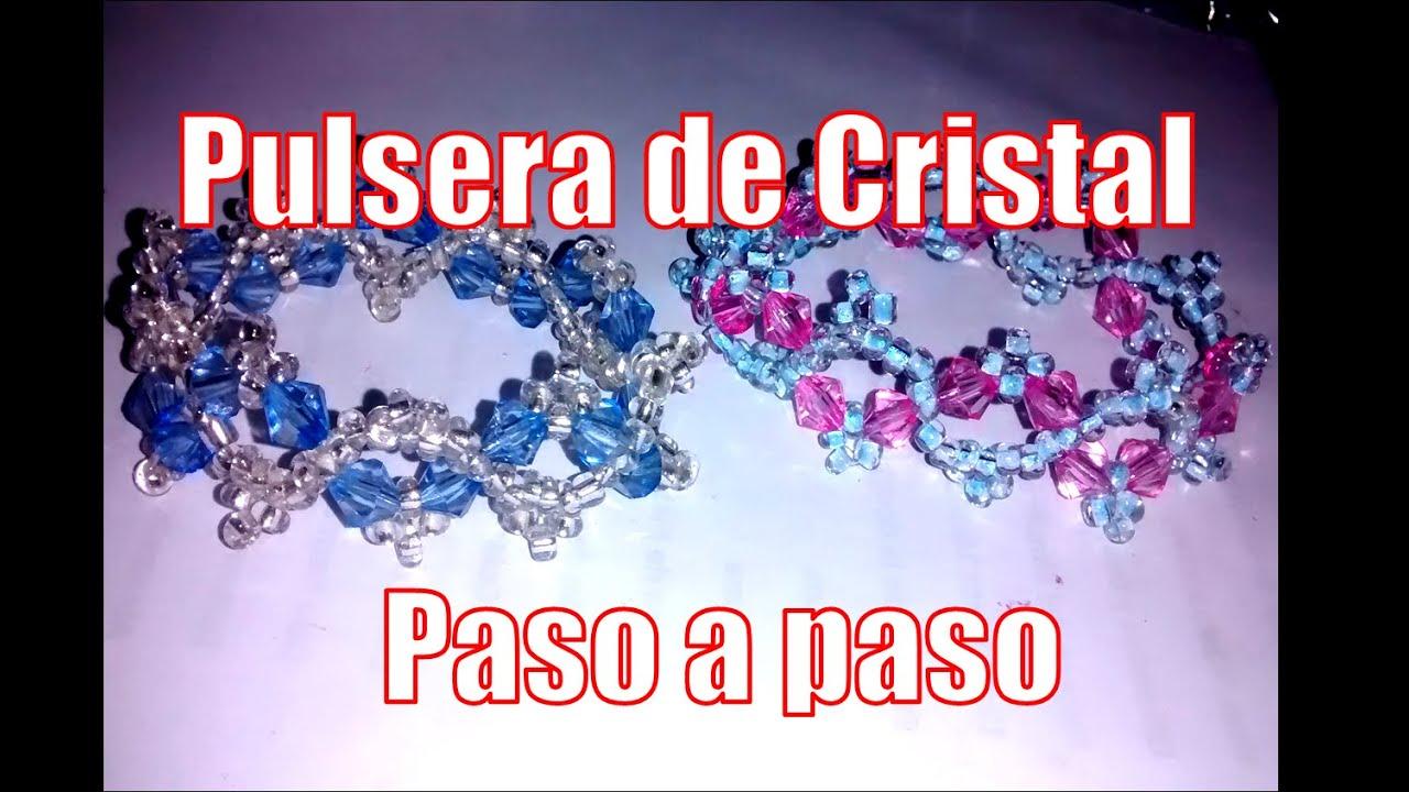Pulsera de cristal , Bisutería Fina (tutorial paso a paso)