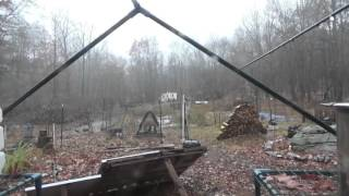 Wet & Rainy Day At The Off Grid Homestead & No Solar Power
