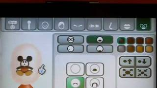 Repeat youtube video Mii Characters: How to make Mickey Mouse on your head?