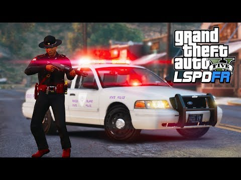GTA 5 - LSPDFR Ep325 - Rhode Island State Police Chase!!