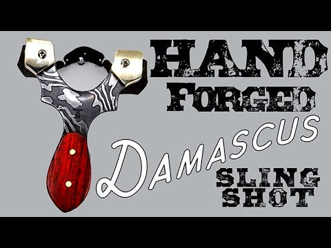 Hand Forged Damascus Slingshot