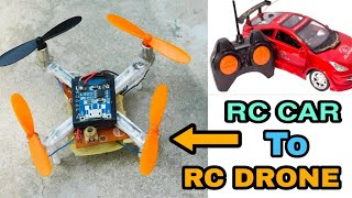 flying Drone, How To Make Flying Drone,RC CAR TO RC DRONE,DIY Mini Drone 🚁, Helicopter Drone