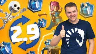 INSANE CYCLE! 2.9 X-Bow Cycle Deck LIVE Ladder Gameplay - Clash Royale
