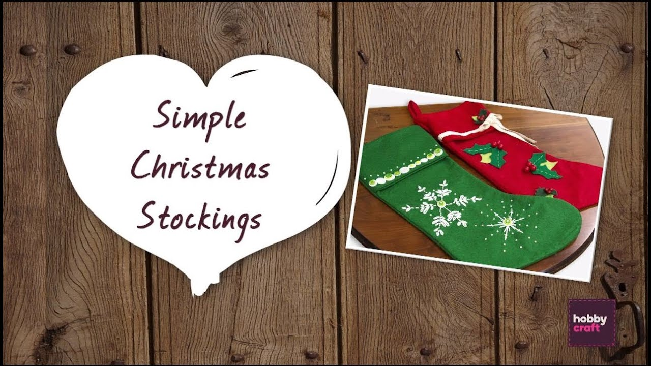 How to make simple christmas stockings youtube solutioingenieria Choice Image