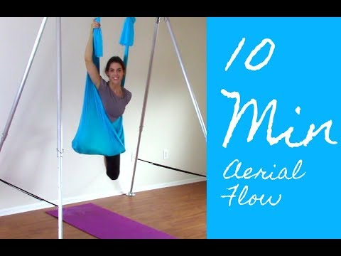 Wake up Energized! Aerial Yoga Tutorial for Beginners