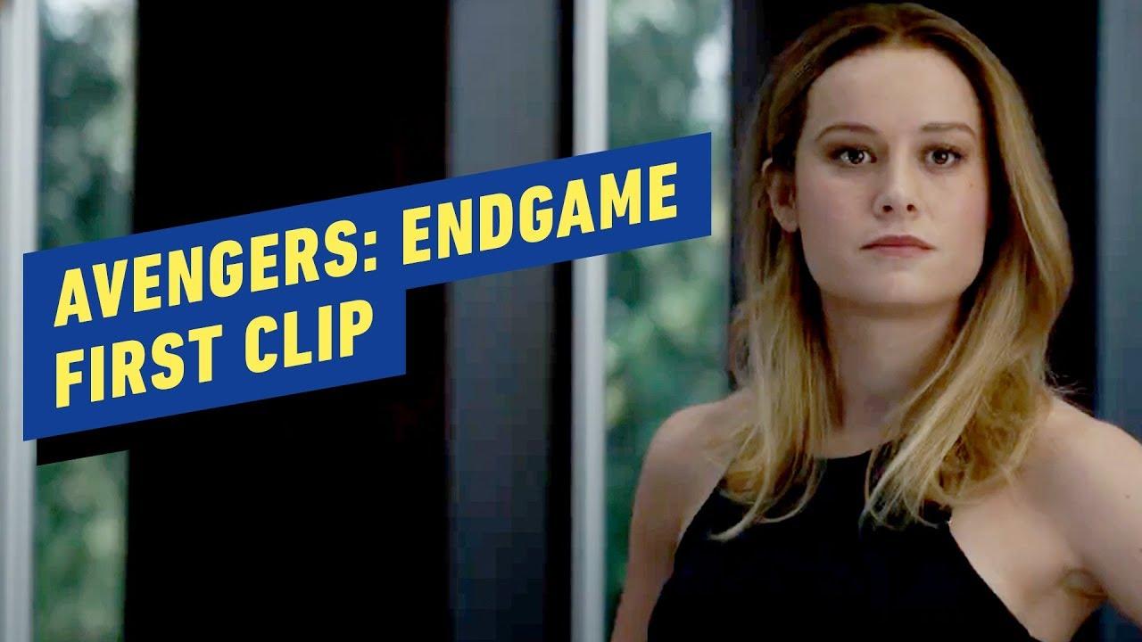 avengers: endgame - first clip (brie larson, chris evans, chris
