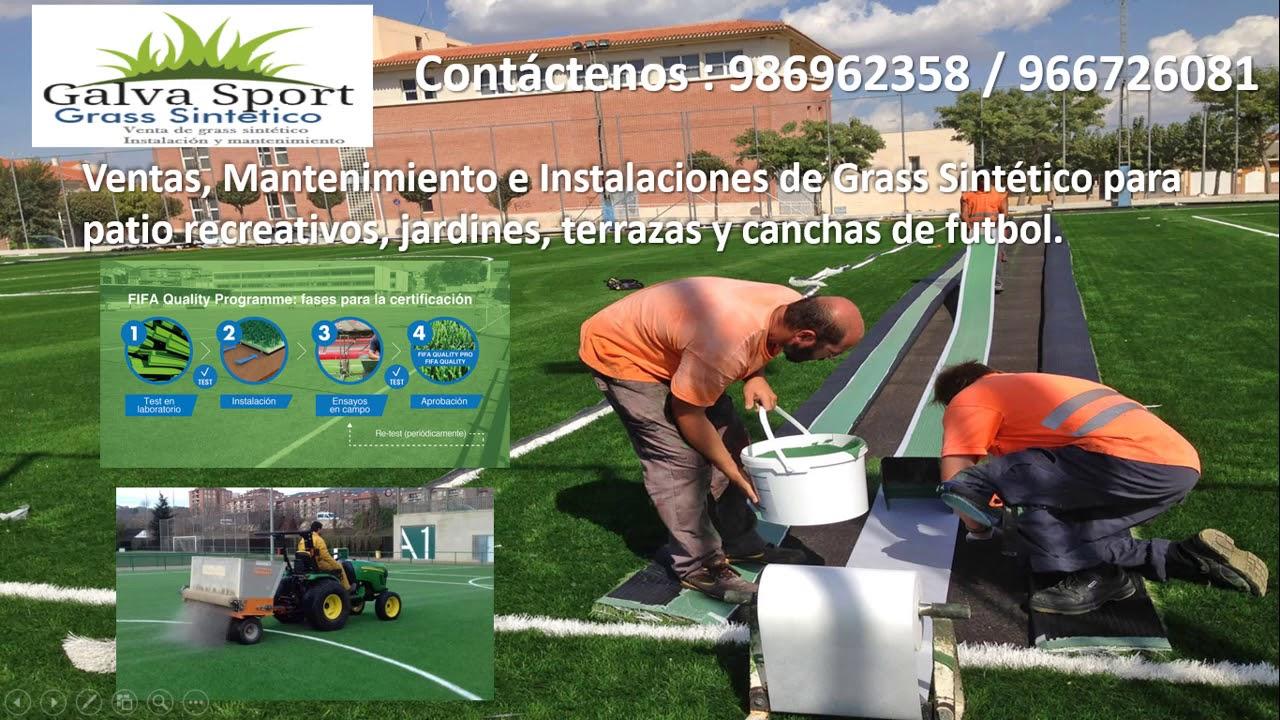 Venta Instalación Y Mantenimiento De Grass Sintético Deportivo O Decorativo