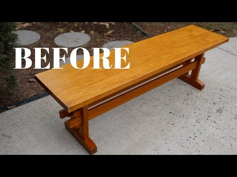 Dining Room Bench Makeover Using Beyond Paint: Furniture Makeovers - Thrift Diving