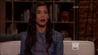 Talking Dead (Fear) - Danay Garcia (Luciana) on the kissing scene with Nick