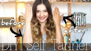 DIY: SELF TANNER / Easy Beautiful Tan! All natural! Only 2 Ingredients!