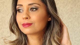 Maquiagem para festa (paleta Contém 1g) @eucapricho por Luiza Gomes