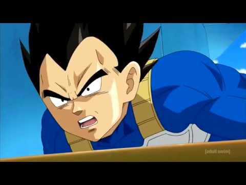 Vegeta attacks beerus