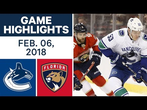 NHL Game Highlights | Canucks vs. Panthers — Feb. 6, 2018