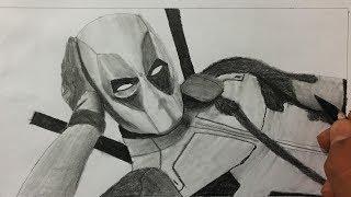 DEADPOOL ÇİZİMİ - Deadpool Karakalem Çizim