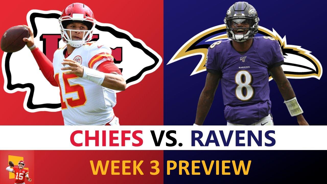 Chiefs vs. Ravens Preview: Patrick Mahomes, Lamar Jackson, Injuries, Prediction   NFL Week 3 MNF