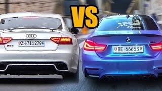 BMW M4 F82 vs AUDI RS5 - Sound Battle!