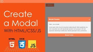Create a Modal With HTML, CSS & JavaScript