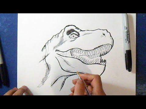 Cómo dibujar  Tiranosaurio Rex 2 | How to Draw Tyrannosaurus Rex