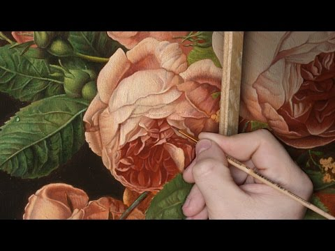 Paint a Rose. Flowers. Technique of the Old Masters. Part 4.