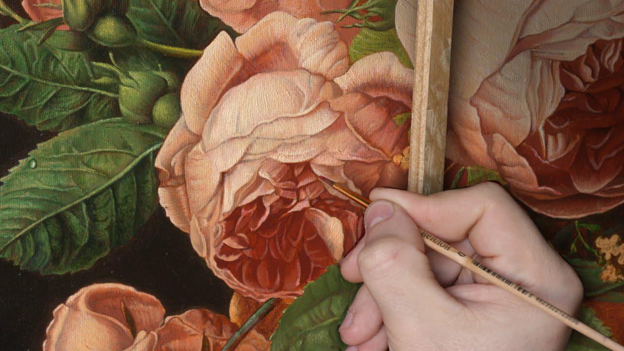 были видео как художник рисует розу на русском воронковидный