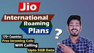 Jio International Roaming Plans in 2021