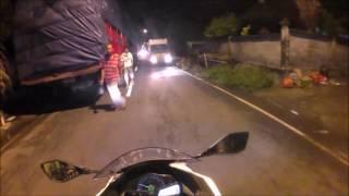 Riding malam Sendiri ke pelabuhan Padangbai Bali I Antrian mobil hingga 2km