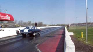 Shelby Mangas 1965 Shelby Mustang Milan Dragway 4-10-10